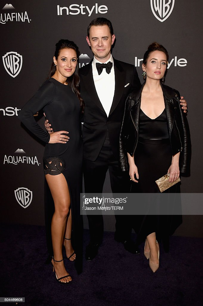 Actors Angelique Cabral, Colin Hanks, and Zoe Lister-Jones attend The 2016 InStyle And Warner Bros. 73rd Annual Golden Globe Awards Post-Party at The Beverly Hilton Hotel on January 10, 2016 in Beverly Hills, California.