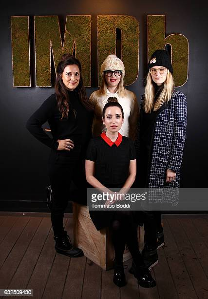 Actors Angelique Cabral Majandra Delfino and Brooklyn Decker film maker Zoe  ListerJones of  Band Aid. The IMDb Studio At The 2017 Sundance Film Festival  ... e0867fdb8c3a