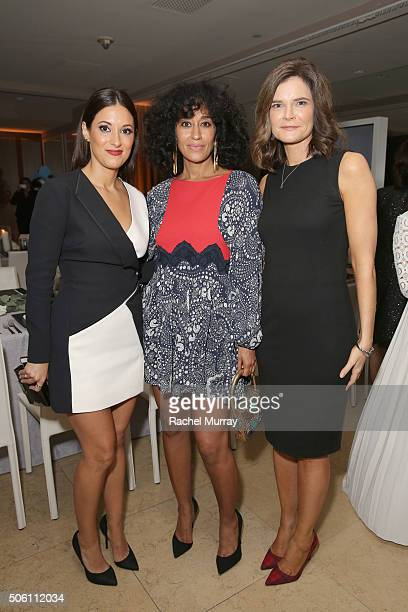 Actors Angelique Cabral Tracee Ellis Ross and Betsy Brandt attend ELLE's 6th Annual Women in Television Dinner Presented by Hearts on Fire Diamonds...