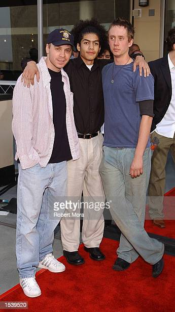 Actors Angelo Spizzirri Chad Lindberg and Rick Gonzalez attend the 4th Annual Young Hollywood Awards by Movieline May 5 2002 in Hollywood CA