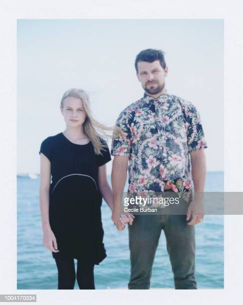 Actors Angourie Rice Nathan Phillips are photographed for Self Assignment on May 2014 in Cannes France