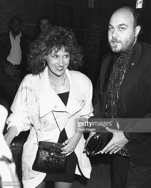Actors Anita Dobson and Gareth Marks attending a party in London June 23rd 1988