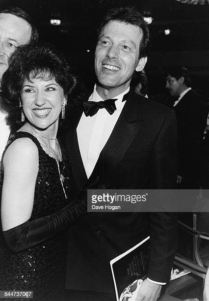 Actors Anita Dobson and Leslie Grantham stars of the soap opera 'Eastenders' at the BAFTA Awards in London March 18th 1986