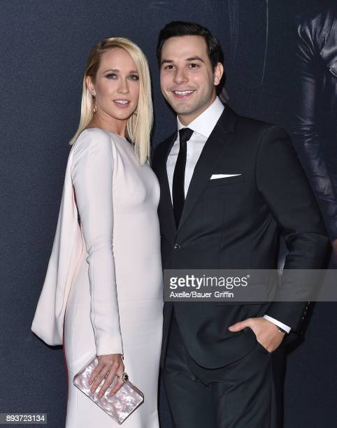 Actors Anna Camp and Skylar Astin arrive at the premiere of Universal Pictures' 'Pitch Perfect 3' at Dolby Theatre on December 12 2017 in Hollywood...