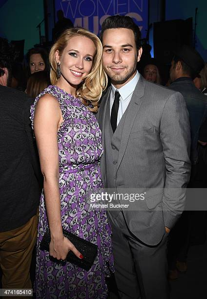 Actors Anna Camp and Skylar Astin attend the 6th annual ELLE Women In Music celebration presented By eBay Hosted by Robbie Myers with performances by...