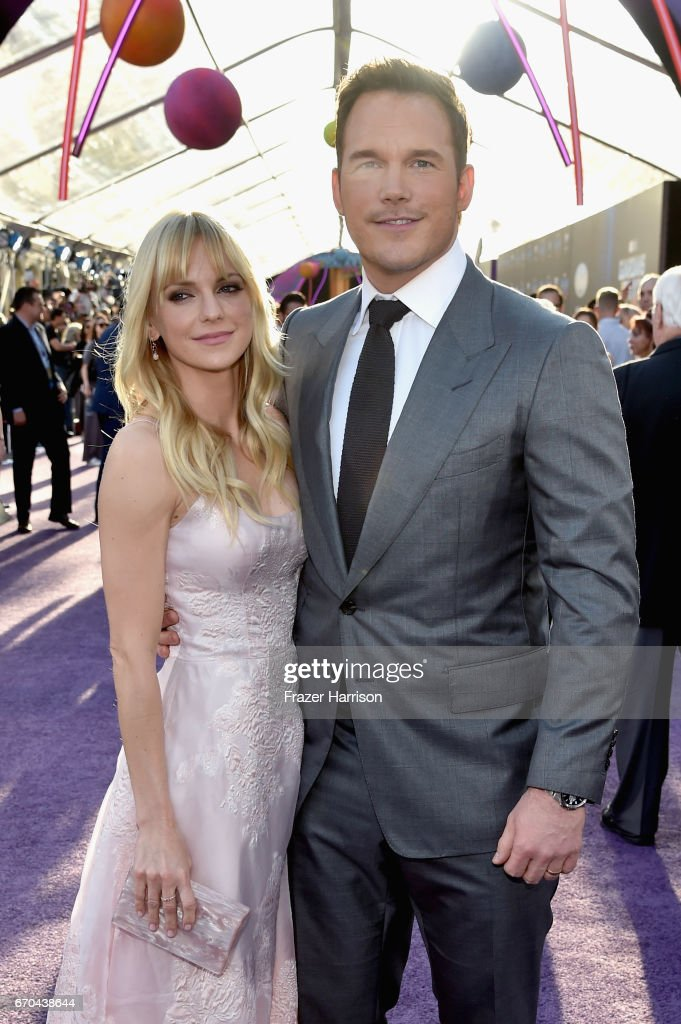 Actors Anna Faris (L) and Chris Pratt at the premiere of Disney and Marvel's 'Guardians Of The Galaxy Vol. 2' at Dolby Theatre on April 19, 2017 in Hollywood, California.