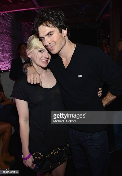 Actors Anna Faris and Ian Somerhalder attend the Audi Forum New Orleans at the Ogden Museum of Southern Art on February 2 2013 in New Orleans...
