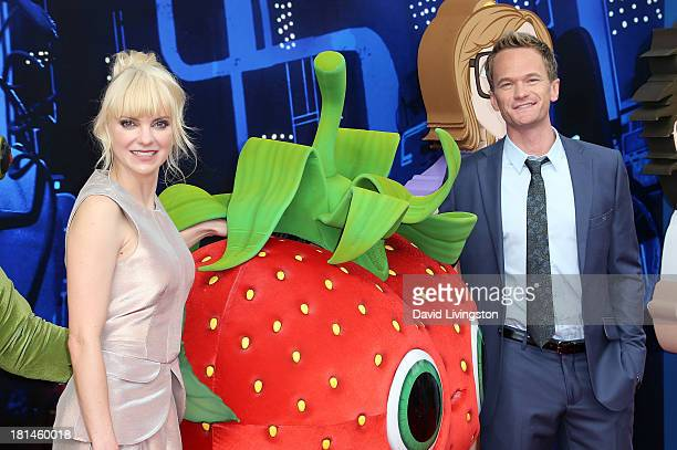 Actors Anna Faris and Neil Patrick Harris attend the premiere of Columbia Pictures and Sony Pictures Animation's Cloudy with a Chance of Meatballs 2...