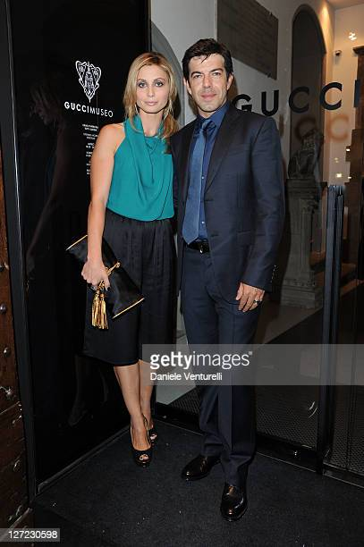 Actors Anna Ferzetti and Pierfrancesco Favino attend the Gucci Museum opening on September 26 2011 in Florence Italy