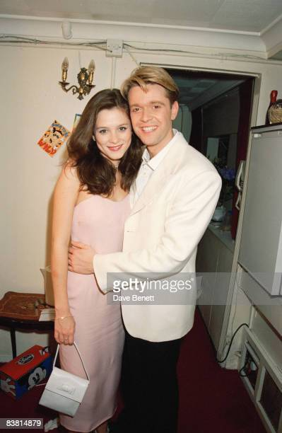 Actors Anna Friel and Darren Day at the opening performance of the musical 'Copacabana' 12th April 1995
