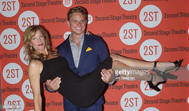 Actors Anna Gunn and Billy Magnussen attend the 'Sex With Strangers' Opening Night after party at Four at Yotel on July 30 2014 in New York City