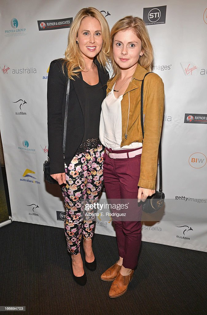 Actors Anna Hutchison and Rose McIver attend Australians In Film's screening of Revival Film Company's 'Blinder' at Los Angeles Film School on April 17, 2013 in Los Angeles, California.