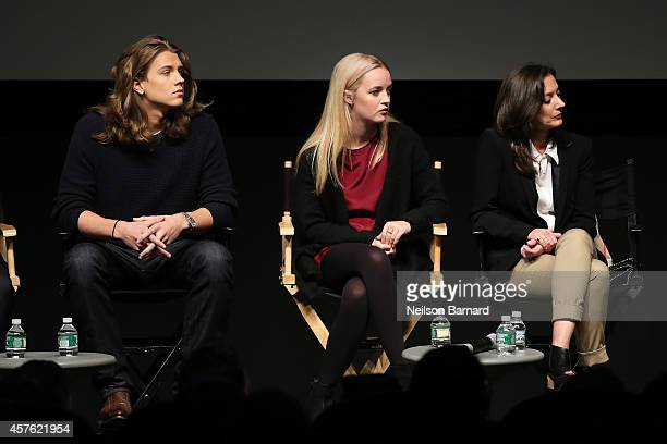 Actors Anna Jacoby Heron and Alex Saxon and Executive Producer Emily Whitesell attend the New York Television Festival panel 'Teenage Wasteland...