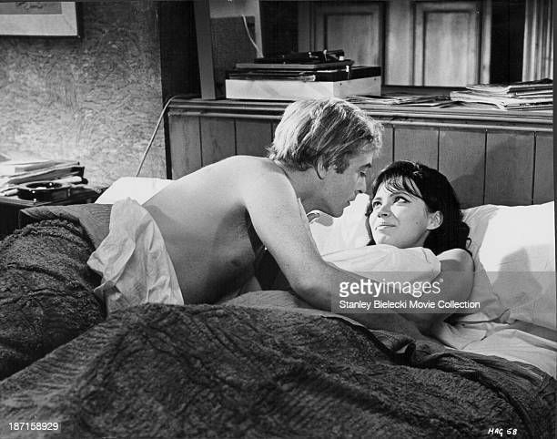 Actors Anna Karina and Michael Caine in a scene from the film 'The Magus' 1968