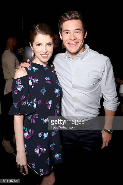 Actors Anna Kendrick and Adam Devine attend CinemaCon 2016 as 20th Century Fox Invites You to a Special Presentation Highlighting Its Future Release...