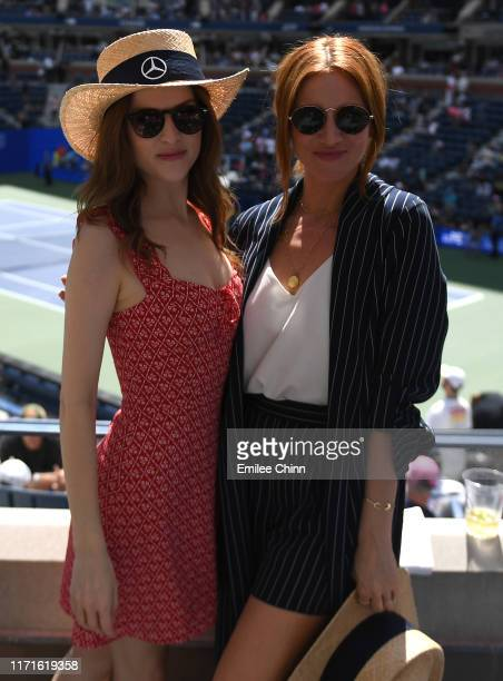 Actors Anna Kendrick and Brittany Snow enjoy The MercedesBenz VIP Suite at The 2019 US Open at the USTA Billie Jean King National Tennis Center on...