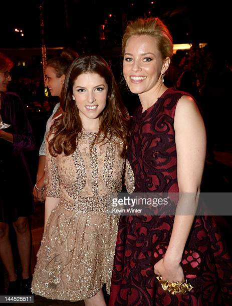 """Actors Anna Kendrick and Elizabeth Banks pose at the after party for the premiere of Lionsgate's """"What To Expect When You're Expecting"""" at the..."""