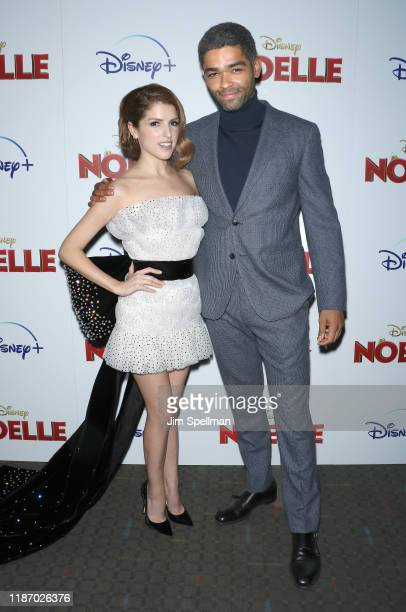"Actors Anna Kendrick and Kingsley BenAdir attend the special screening of ""Noelle"" hosted by Disney and The Cinema Society at SVA Theater on November..."