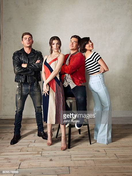 Actors Anna Kendrick Aubrey Plaza Zac Efron Adam DeVineare from 'Mike and Dave Need Wedding Dates' are photographed for 20th Century Fox on May 26...
