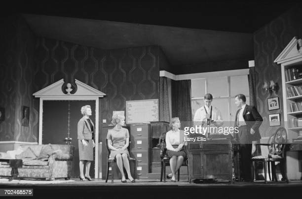 Actors Anna Neagle and Bud Tingwell during rehearsals for the play 'Person Unknown' at the Royal Court Theatre in Liverpool 17th February 1964 The...