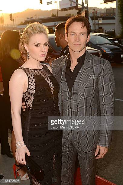 Actors Anna Paquin and Stephen Moyer arrive at HBO 'True Blood' season 5 premiere held at ArcLight Cinemas Cinerama Dome on May 30 2012 in Hollywood...