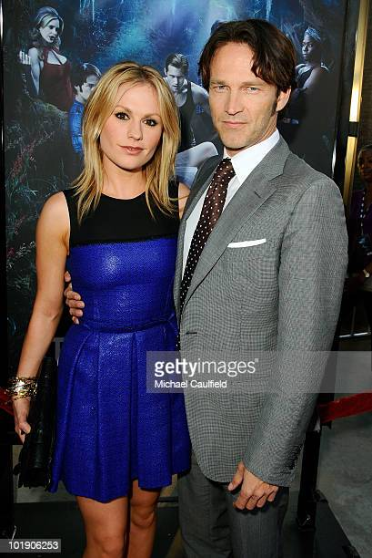 Actors Anna Paquin and Stephen Moyer arrive at HBO's True Blood Season 3 premiere held at the ArcLight Cinemas Cinerama Dome on June 8 2010 in...