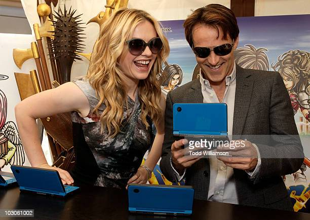 Actors Anna Paquin and Stephen Moyer attend Day 2 of Nintendo's Dragon Quest IX Experience at The WIRED Cafe held at the Omni Hotel on July 23 2010...