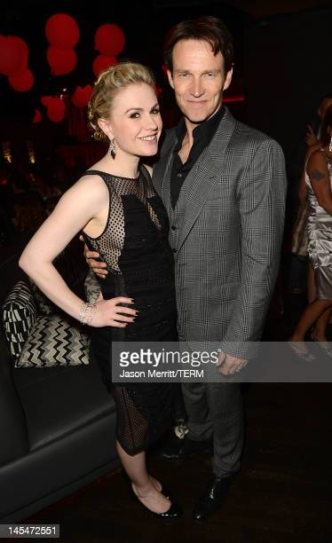 Actors Anna Paquin and Stephen Moyer attend HBO 'True Blood' season 5 premiere after party held at Lure on May 30 2012 in Hollywood California