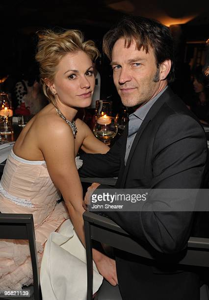 """Actors Anna Paquin and Stephen Moyer attend The Art of Elysium's 3rd Annual Black Tie Charity Gala """"Heaven"""" on January 16, 2010 in Beverly Hills,..."""