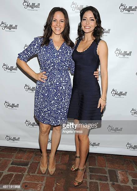 Actors Anna Silk and Emmanuelle Vaugier attend The Fluffball 2015 at The Little Door on October 3 2015 in Los Angeles California