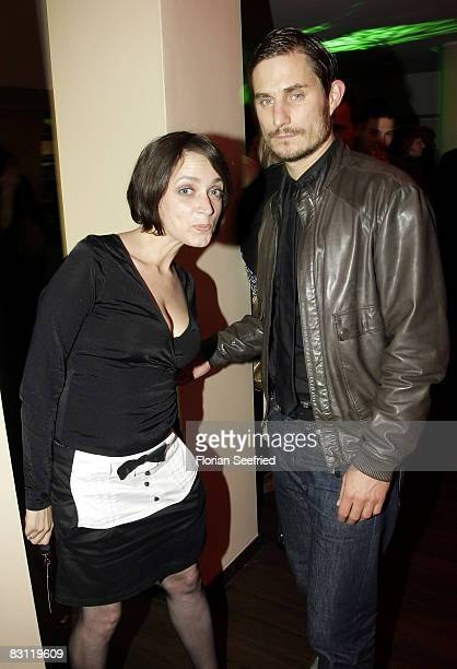 Actors Anna Thalbach and Clements Schick attend the premiere of Krabat at the CineStar on October 3 2008 in Berlin Germany
