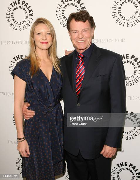 Actors Anna Torv and John Noble attend The Paley Center for Media presententation of 'Fringe' at The Paley Center for Media on May 19 2011 in Beverly...