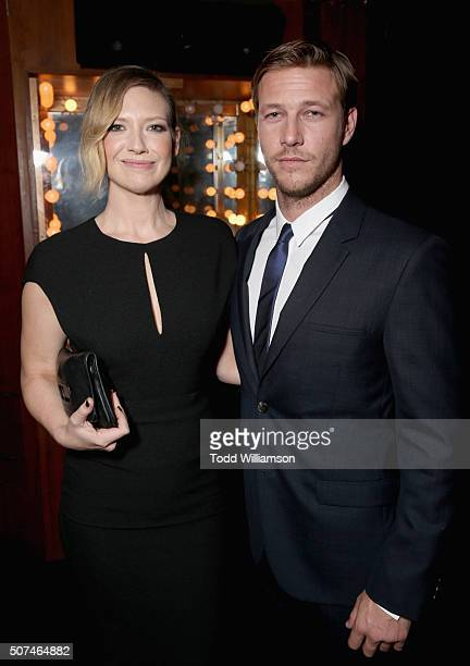 Actors Anna Torv and Luke Bracey attend the 5th AACTA International Awards at Avalon Hollywood on January 29 2016 in Los Angeles United States