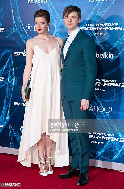 Actors Anna Wood and Dane DeHaan attend 'The Amazing SpiderMan 2' premiere at the Ziegfeld Theater on April 24 2014 in New York City