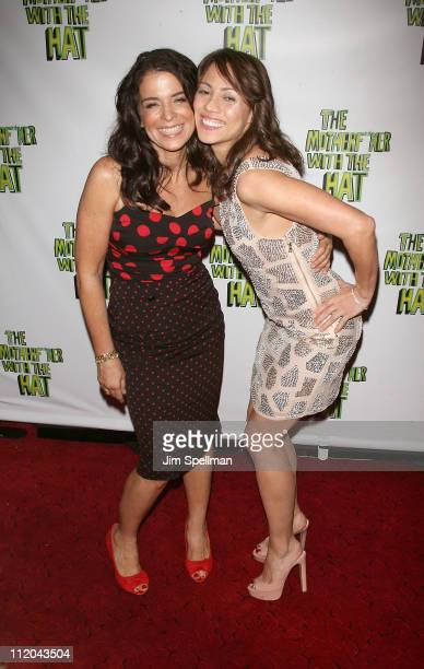 Actors Annabella Sciorra and Elizabeth Rodriguez attend the Broadway opening night of The Motherf**cker with the Hat at Gerald Schoenfeld Theatre on...