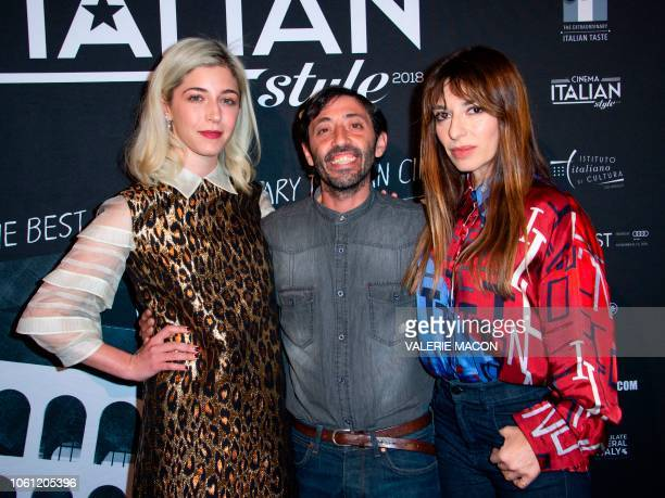 Actors Annabelle Attanasio Marcello Fonte and Sabrina Impacciatore arrive at the AFI FEST 2018 Presented By Audi Cinema Italian Style KickOff Event...