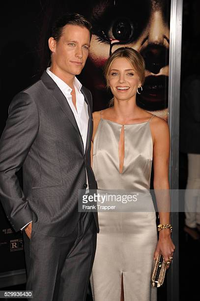 Actors Annabelle Wallis and Ward Horton arrive at the special screening of Annabelle held at the TCL Chinese theater in Hollywood