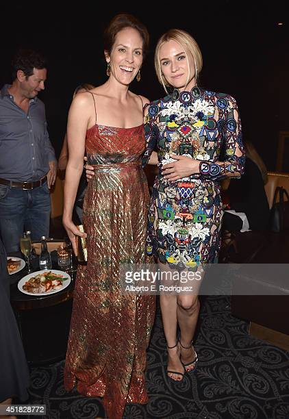 Actors Annabeth Gish and Diane Kruger attend the after party for the season premiere of FX's The Bridge at the Pacific Design Center on July 7 2014...