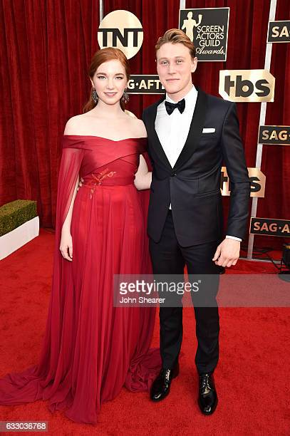 Actors Annalise Basso and George MacKay attend The 23rd Annual Screen Actors Guild Awards at The Shrine Auditorium on January 29 2017 in Los Angeles...