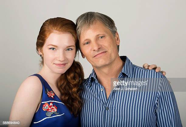 Actors Annalise Basso and Viggo Mortensen are photographed for Los Angeles Times on June 27 2016 in Los Angeles California PUBLISHED IMAGE CREDIT...