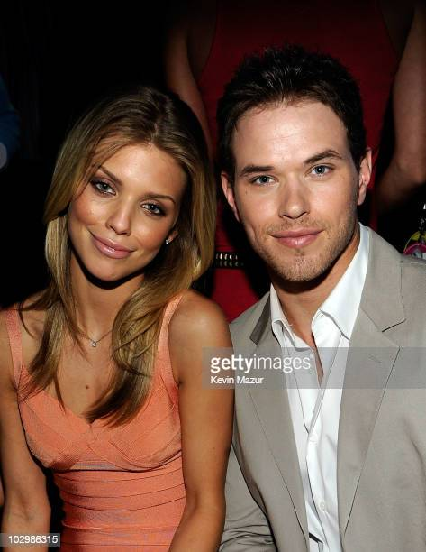 Actors AnnaLynne McCord and Kellan Lutz attend the 2010 VH1 Do Something Awards held at the Hollywood Palladium on July 19 2010 in Hollywood...