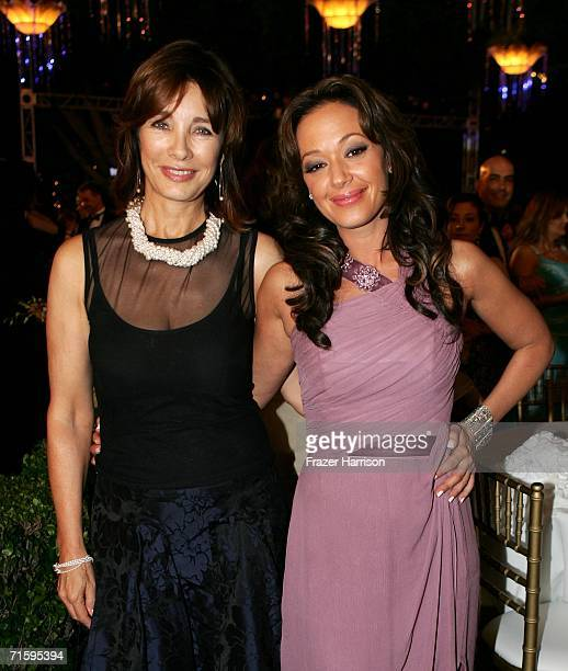 Actors Anne Archer and Leah Remini pose at the Church of Scientology Celebrity Centre 37th Anniversary Gala on August 5 2006 in Hollywood California