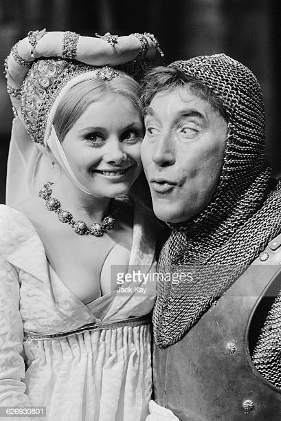 Actors Anne Aston and Frankie Howerd stars of the British comedy 'Up the Chastity Belt' UK 26th April 1971