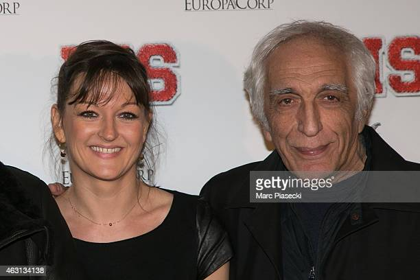 Actors Anne Girouard and Gerard Darmon attend the 'Bis' Premiere at Cinema Gaumont Capucine on February 10, 2015 in Paris, France.