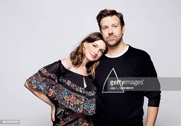 Actors Anne Hathaway and Jason Sudeikis of 'Colossal' pose for a portraits at the Toronto International Film Festival for Los Angeles Times on...