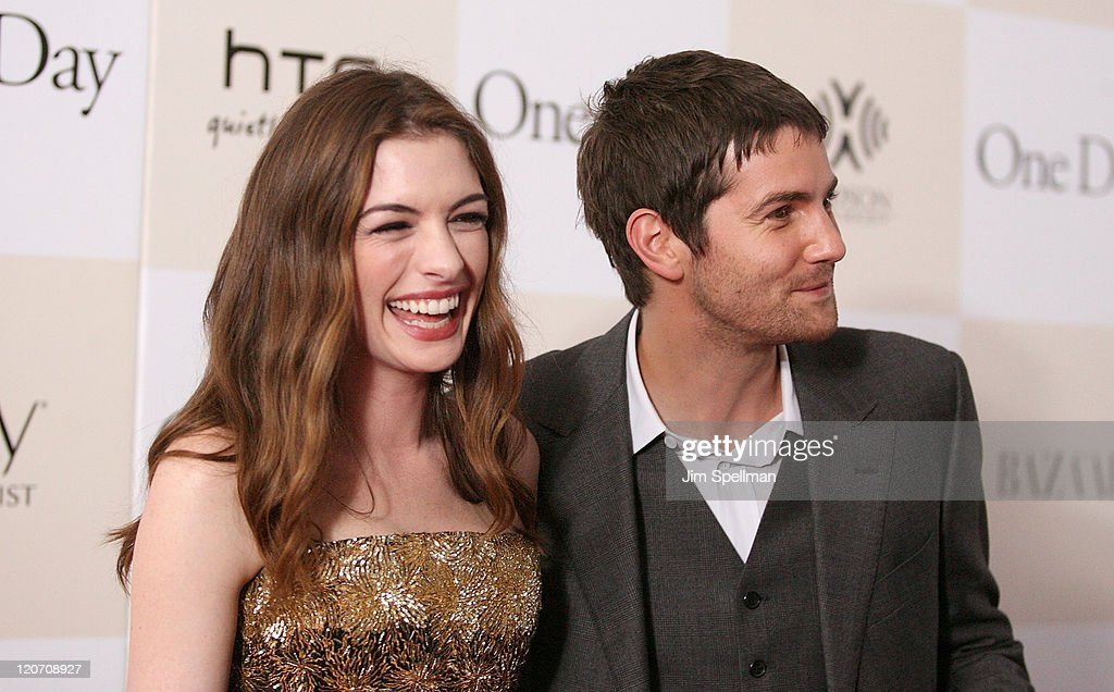 Actors Anne Hathaway and Jim Sturgess attend the 'One Day' premiere at the AMC Loews Lincoln Square 13 theater on August 8, 2011 in New York City.