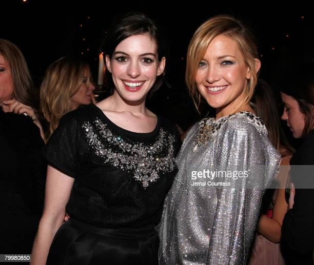Actors Anne Hathaway and Kate Hudson attend the Dolce Gabbana's The One Fragrance Launch and Private Dinner at The Grammercy Park Hotel on december 4...