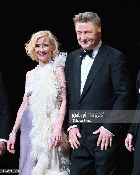 actors Anne Heche and Alec Baldwin take a bow during curtain call at the Twentieth Century Benefit Concert Reading at Studio 54 on April 29 2019 in...