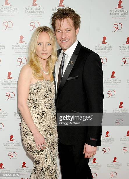 Actors Anne Heche and James Tupper arrive at the 50th Anniversay Benefit Gala of St Jude Children's Research Hospital at The Beverly Hilton Hotel on...