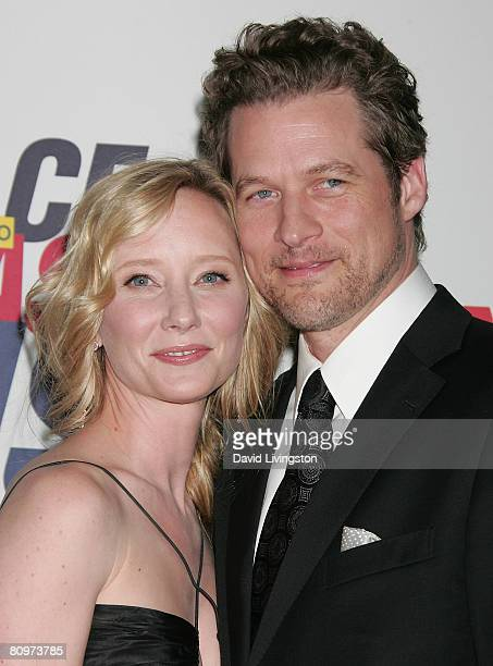 Actors Anne Heche and James Tupper attend the 15th annual Race to Erase MS event at the Hyatt Regency Century Plaza Hotel on May 2 2008 in Los...